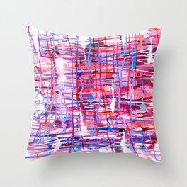 WINDOW PANE - CHANGING SEASONS - NORTHWEST - RAIN Throw Pillow