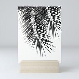 Black Palm Leaves Dream - Cali Summer Vibes #2 #tropical #decor #art #society6 Mini Art Print