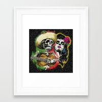 dia de los muertos Framed Art Prints featuring Dia de Los Muertos by Kevin Rogerson
