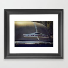 Vintage Car Chevrolet Framed Art Print