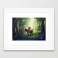 brave Framed Art Prints featuring Brave by hart-coco