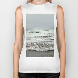 Sea Breaks on the Tidal Shelf Biker Tank