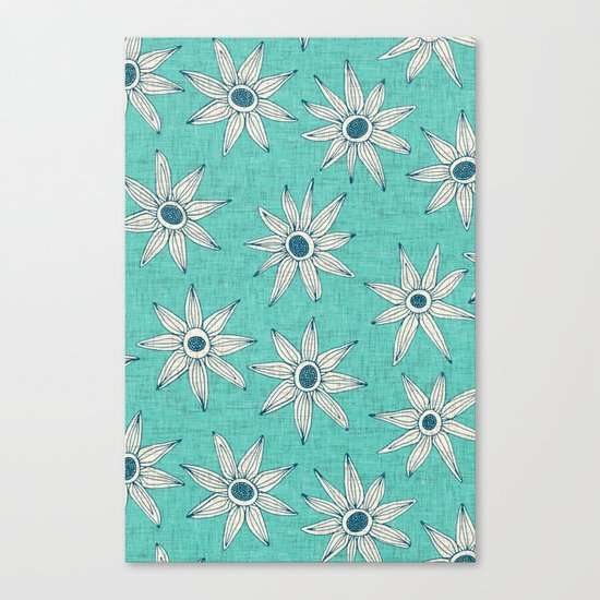 sema mint blue Canvas Print