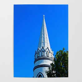 Church Steeple Statues Poster