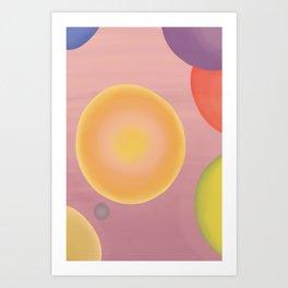 Bubbled Colours Art Print