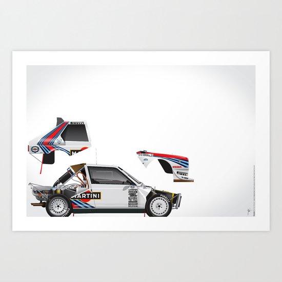 Henri Toivonen-Sergio Cresto, Lancia Delta S4, 1986 Art Print