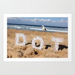 Seagull Dots Art Print
