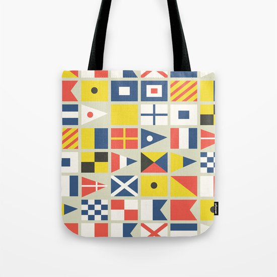 Geometric Nautical flag and pennant Tote Bag