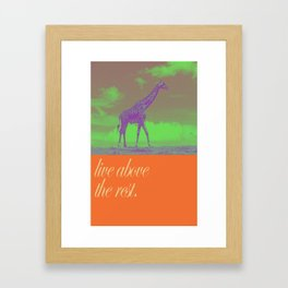 Above the rest Framed Art Print
