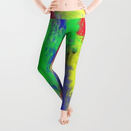 Abstract colorful pattern Leggings