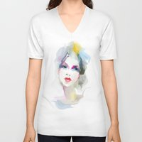 decorative V-neck T-shirts featuring decorative by tatiana-teni