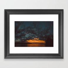 Opposite Sunset Framed Art Print
