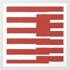 Big Stripes In Red Art Print