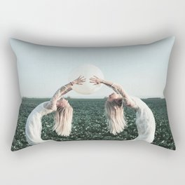 Fight with yourself Rectangular Pillow