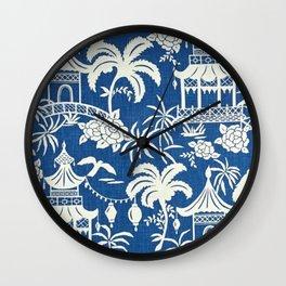 Pagoda Fabric Wall Clock