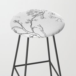 Color Your Own Chinoiserie Panels 1-2 Contour Lines - Casart Scenoiserie Collection Bar Stool