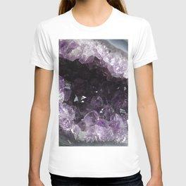 Amethyst Crystal Geode Sphere T-shirt