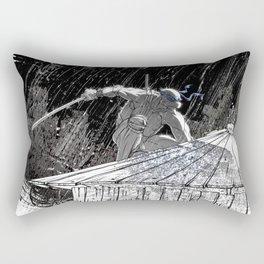 Black and White Ninja Turtle Leonardo Rectangular Pillow