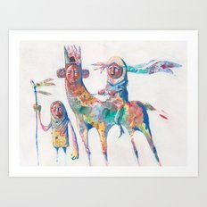 colour nomads Art Print