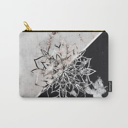 Yin Yang Mandala on Marble #1 #decor #art #society6 Carry-All Pouch