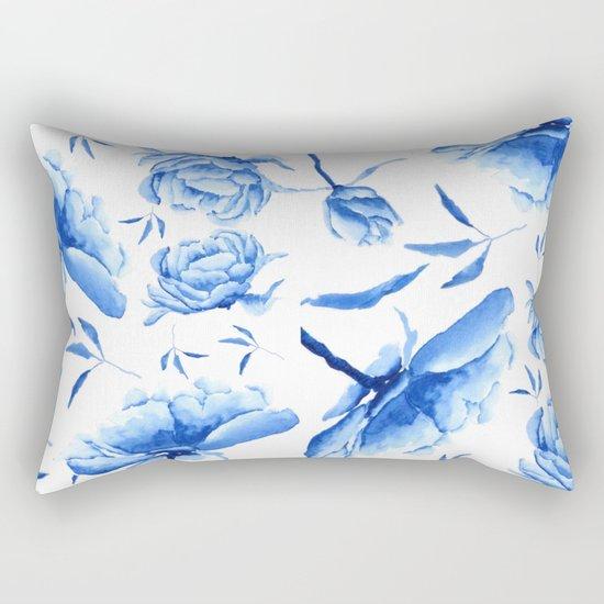 Blue peony 2 Rectangular Pillow