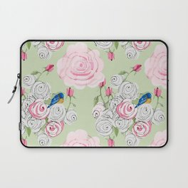 Shabby Chic Bluebirds and Roses Laptop Sleeve