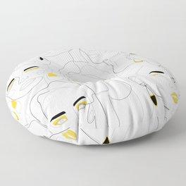 In Mustard Floor Pillow