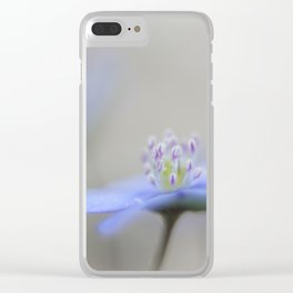 Soft violet Clear iPhone Case