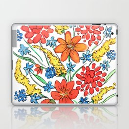Watercolor Flowers Laptop & iPad Skin