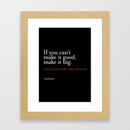 Quote - Graphic design Framed Art Print