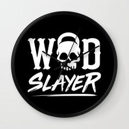 WOD Slay er Skull Wall Clock