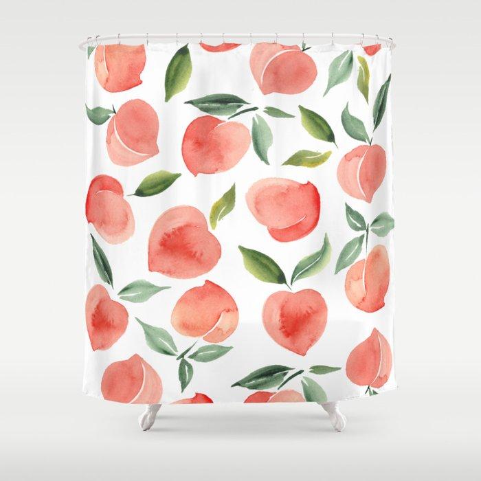 peaches Shower Curtain