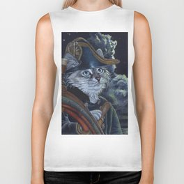 Sea Captain Cat Biker Tank