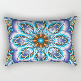 Fantasy flower in purple and blue Rectangular Pillow