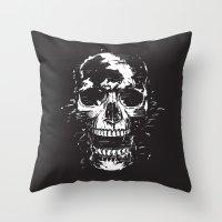 scream Throw Pillows featuring Scream by Balazs Solti
