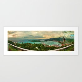 A View from Above St. Thomas Art Print