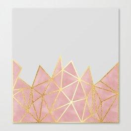 Pink & Gold Geometric Canvas Print