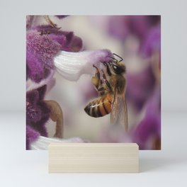 Worker Bee on Mexican Sage Mini Art Print