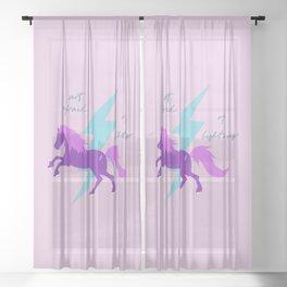 Not afraid of lighting Sheer Curtain