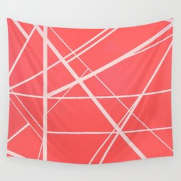Crossroads - Pink Wall Tapestry