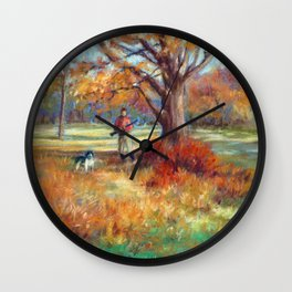 First Hunt of the Fall Wall Clock