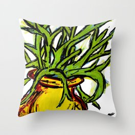 """My Strange Succulent"" Throw Pillow"
