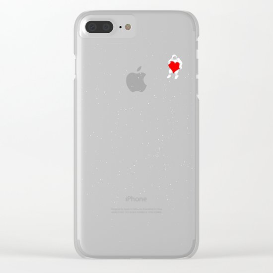 Love Space Clear iPhone Case