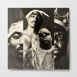 Biggie&Tupac Mix Metal Print