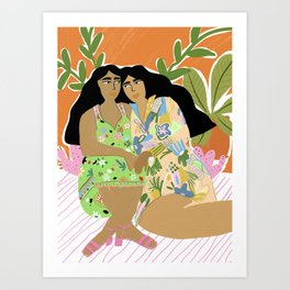 Sisters of the jungle Art Print