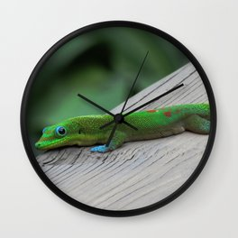 Relaxing Gecko Wall Clock