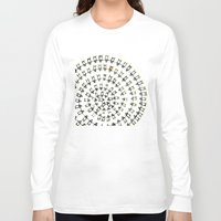 fibonacci Long Sleeve T-shirts featuring Penguin Fibonacci by Jean Rim