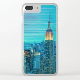 New York Lights Clear iPhone Case