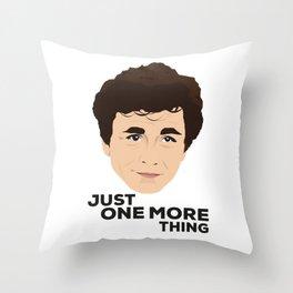 Peter Falk as Columbo Throw Pillow