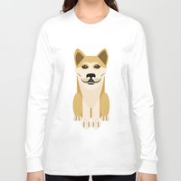 vector Long Sleeve T-shirts featuring Shiba dog vector by TIERRAdesigner